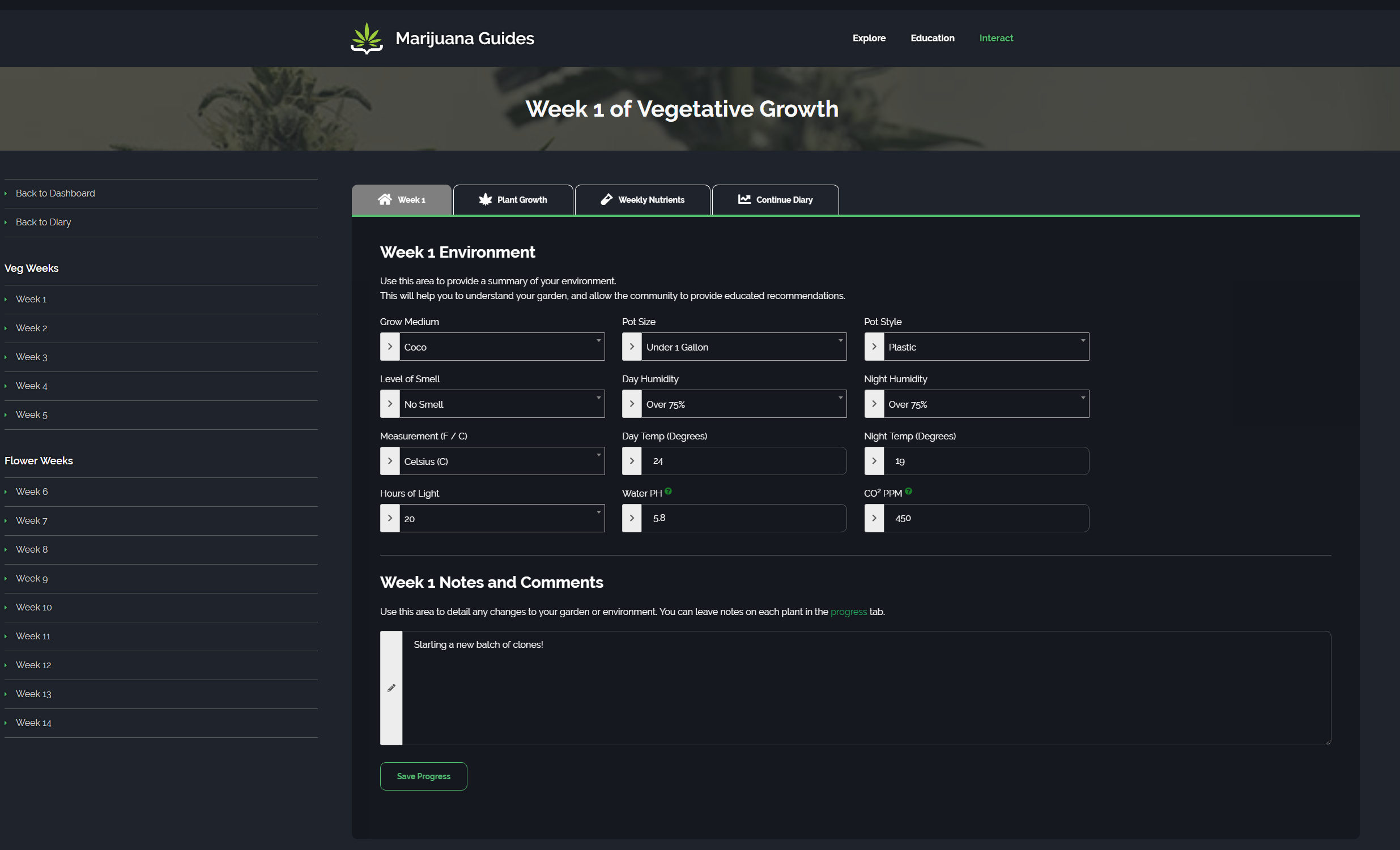 Manage Weekly Changes and Growth