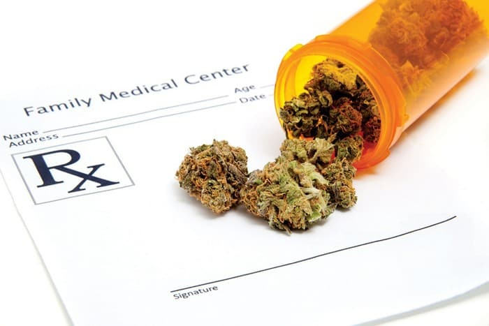 Marijuana spilled onto prescription pad